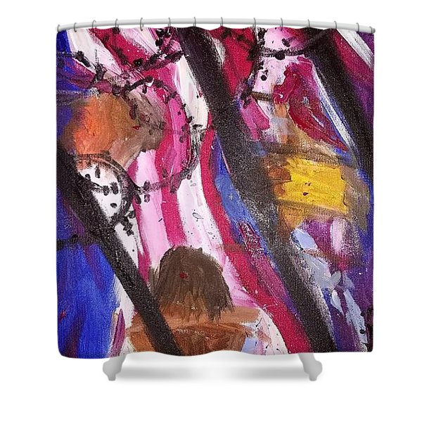 Shower Curtain featuring the painting Yearning To Be Free by Kevin Daly