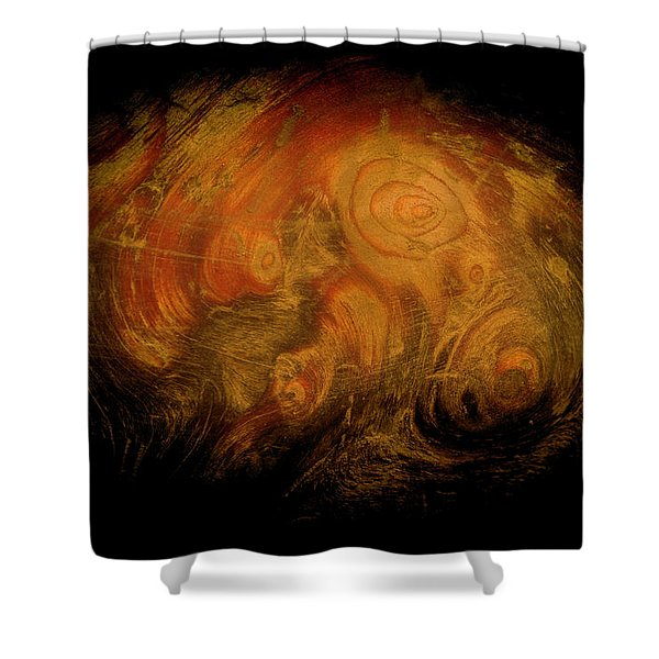 Yellow 3567 Signed Shower Curtain