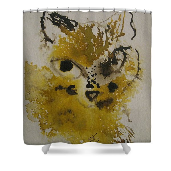 Yellow And Brown Cat Shower Curtain