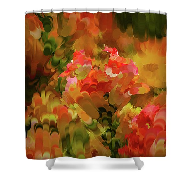 Yellow And Orange #h6 Shower Curtain