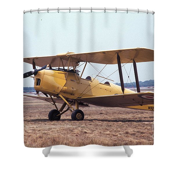 Yellow Bipe Shower Curtain