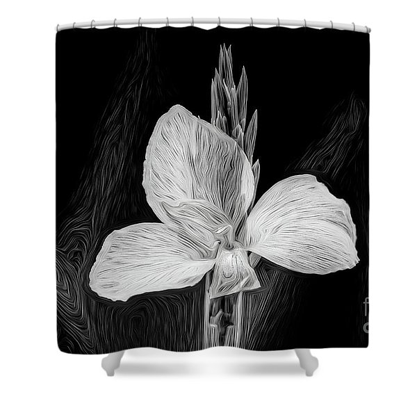 Yellow Black And White Shower Curtain