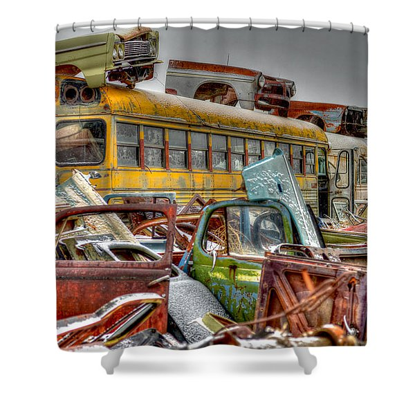 Yellow Bus Shower Curtain