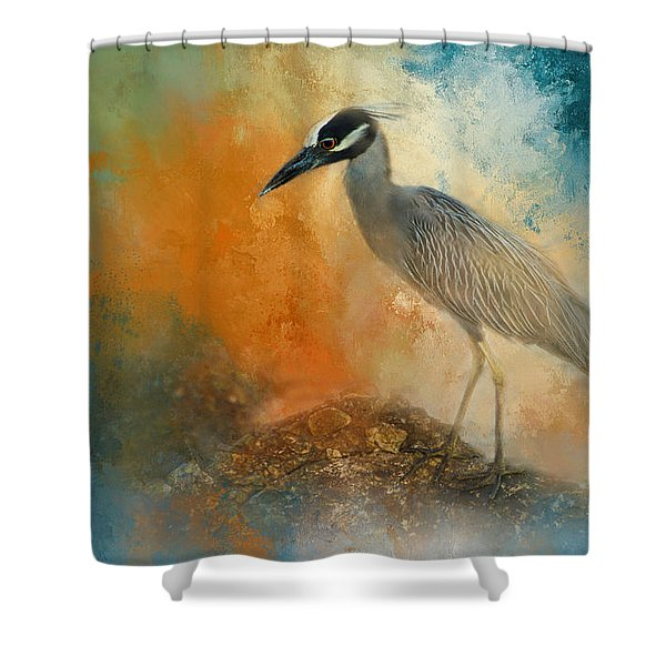 Yellow Crown Shower Curtain