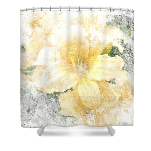 Yellow Daylily Shower Curtain
