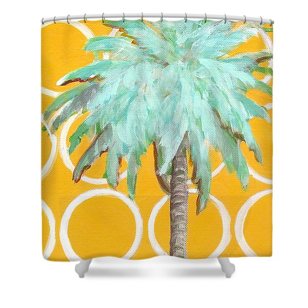 Yellow Delilah Palm Shower Curtain