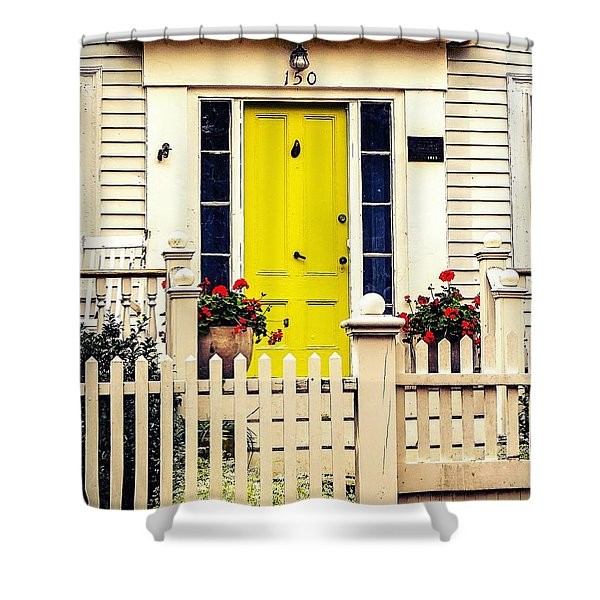 Yellow Door Shower Curtain