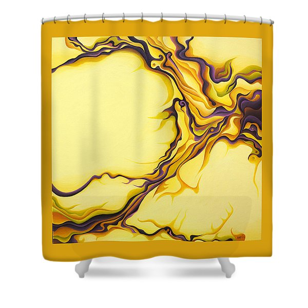 Yellow Flow Shower Curtain