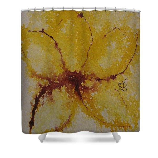 Yellow Flower Shower Curtain
