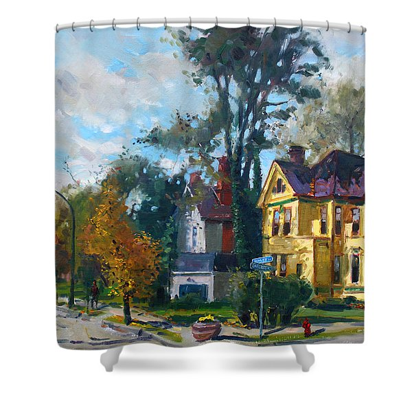 Yellow House Shower Curtain