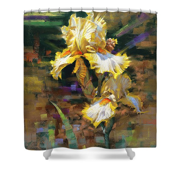 Yellow Iris II Shower Curtain