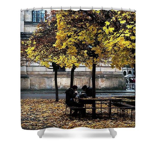 Yellow Lunch Shower Curtain