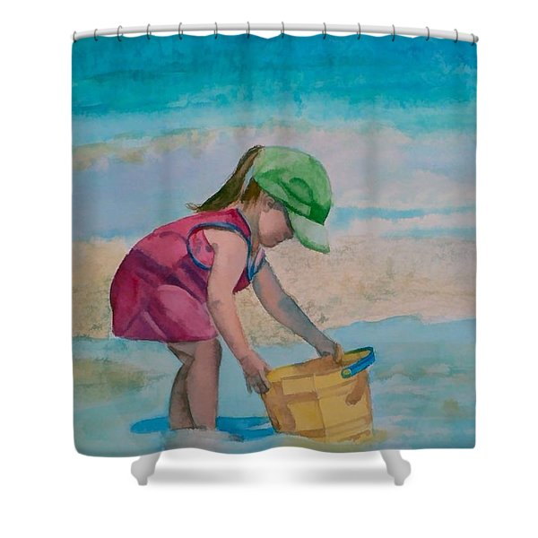 Yellow Pail Shower Curtain