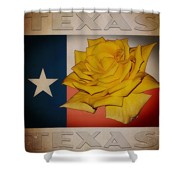 Yellow Rose On Texas Shower Curtain