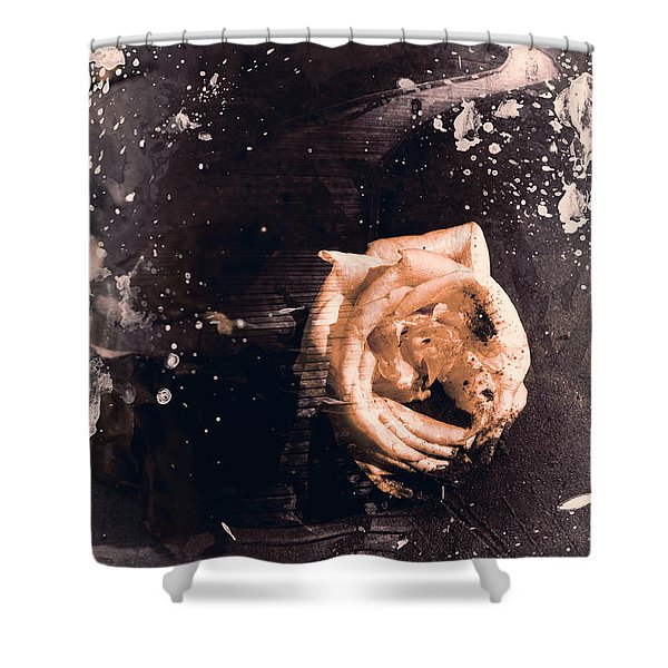Yellow Rose Pier Shower Curtain