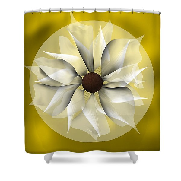 Yellow Soft Flower Shower Curtain