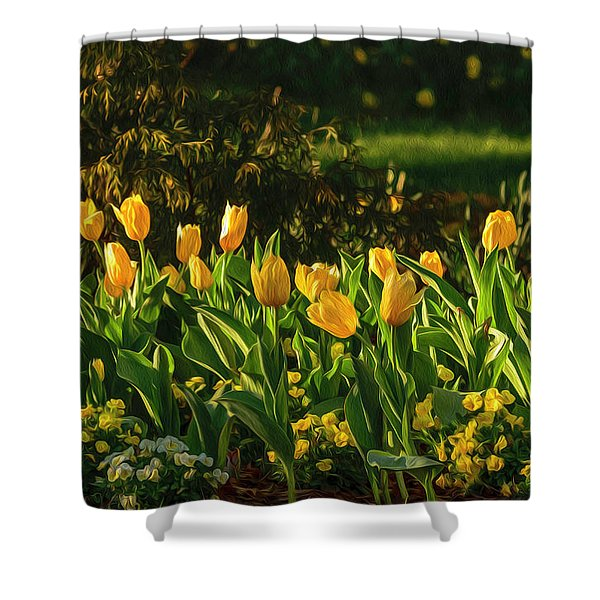 Yellow Spring Fever Shower Curtain