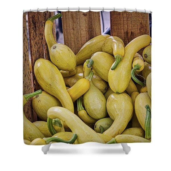 Yellow Squash Shower Curtain