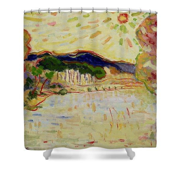 Beynac Et Cazenac , Dordogne , Yellow Sunshine  Shower Curtain
