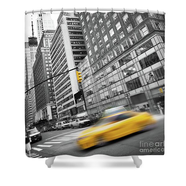 Yellow Taxi Nyc Shower Curtain