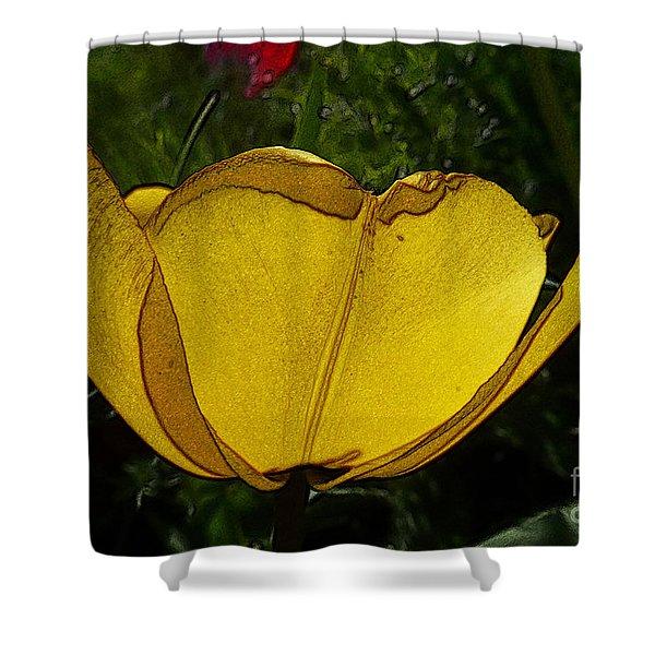 Yellow Tulip 2 Shower Curtain