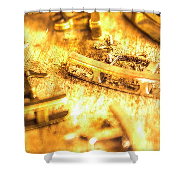 Yellow Weathered Rockers Shower Curtain