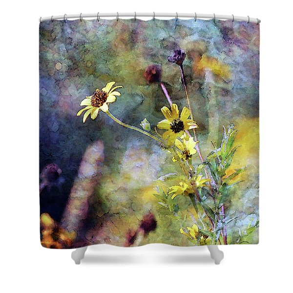 Yellow Wildflowers 3230 Idp_2 Shower Curtain