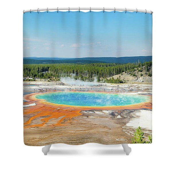 Yellowstone Grand Prismatic Spring  Shower Curtain