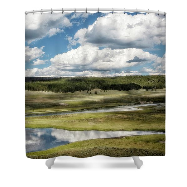 Yellowstone Hayden Valley National Park Wall Decor Shower Curtain