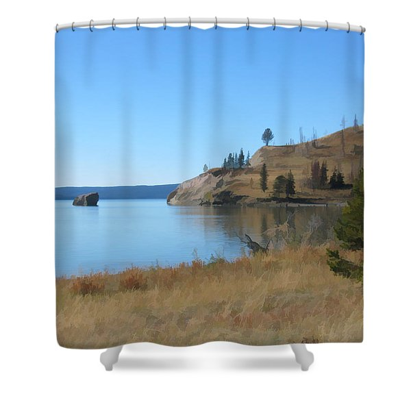 Yellowstone Lake Se Shower Curtain