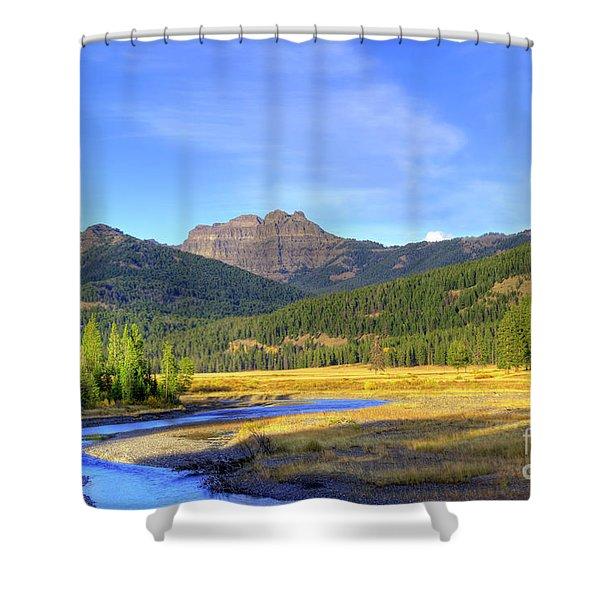 Yellowstone National Park Landscape Shower Curtain