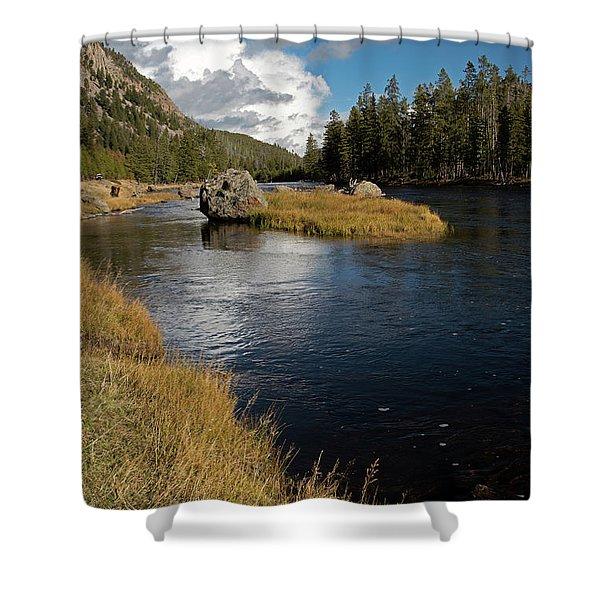 Yellowstone Nat'l Park Madison River Shower Curtain