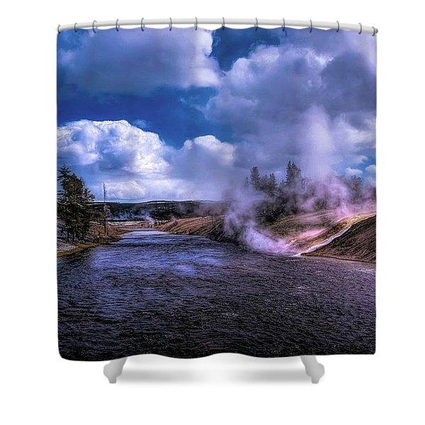 Yellowstone River Shower Curtain