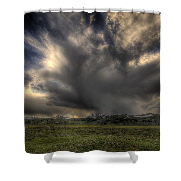 Yellowstone Storm Shower Curtain