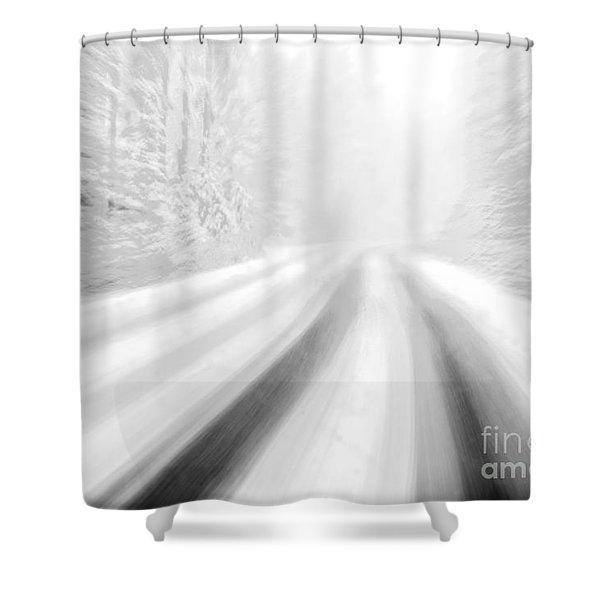 Yellowstone Summer Snow Shower Curtain