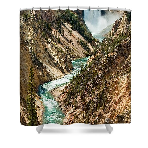 Yellowstone Waterfalls Shower Curtain