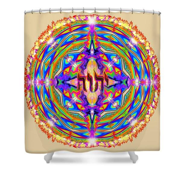 Yhwh Mandala 3 18 17 Shower Curtain