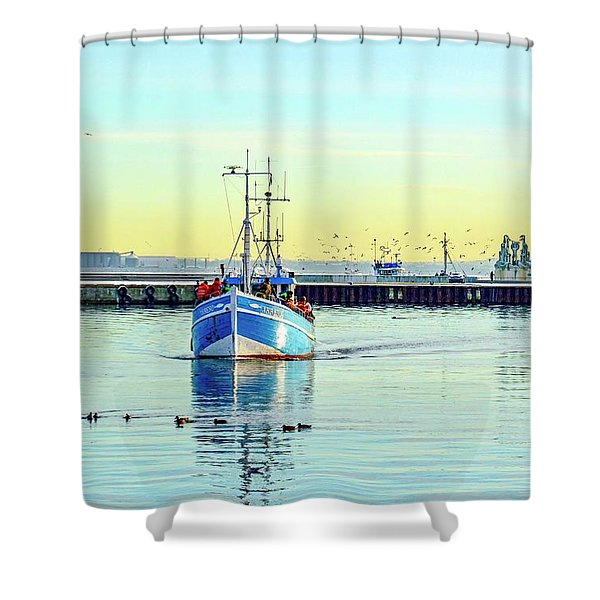 Yield For Ducks Shower Curtain