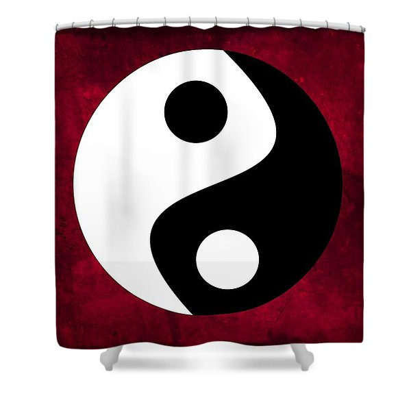 Yin And Yang Shower Curtain