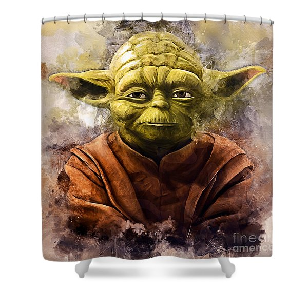 Yoda Art Shower Curtain