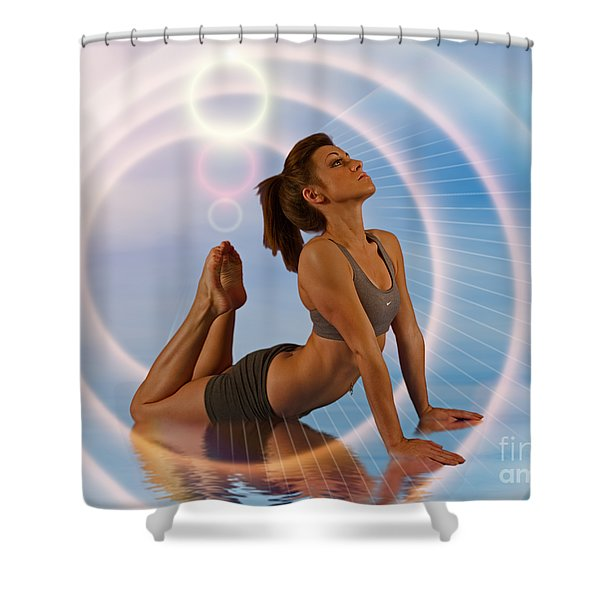 Yoga Girl 1209206 Shower Curtain