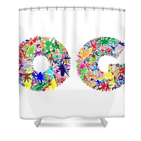 Yoga Word Art Shower Curtain
