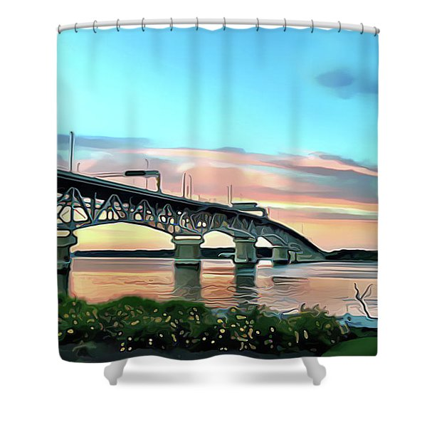 York River Bridge Shower Curtain