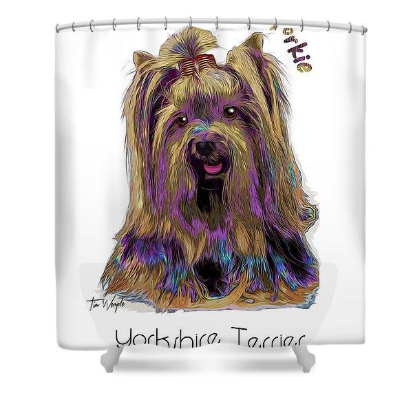 Yorkshire Terrier Pop Art Shower Curtain