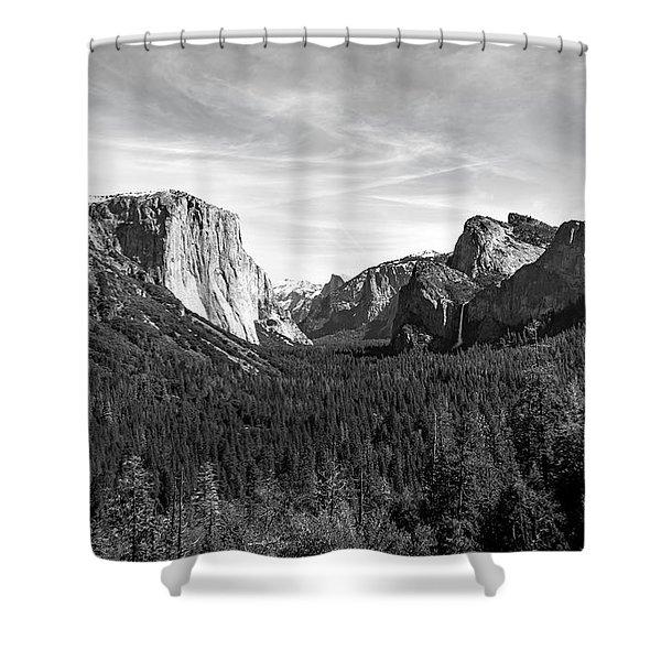 Yosemite B/w Shower Curtain
