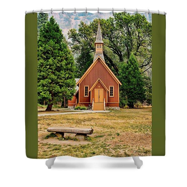 Yosemite Chapel Shower Curtain