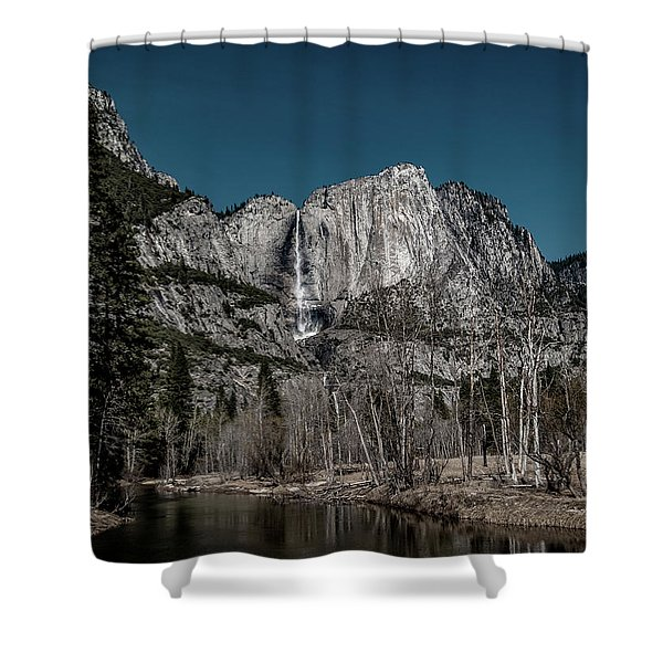 Yosemite Falls Duotone Shower Curtain
