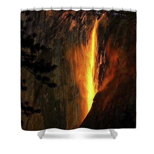 Yosemite Firefall Shower Curtain