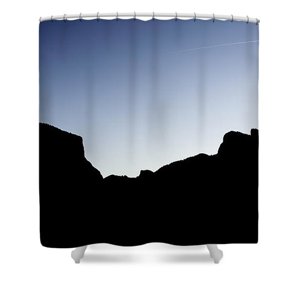 Yosemite In Silhouette Shower Curtain
