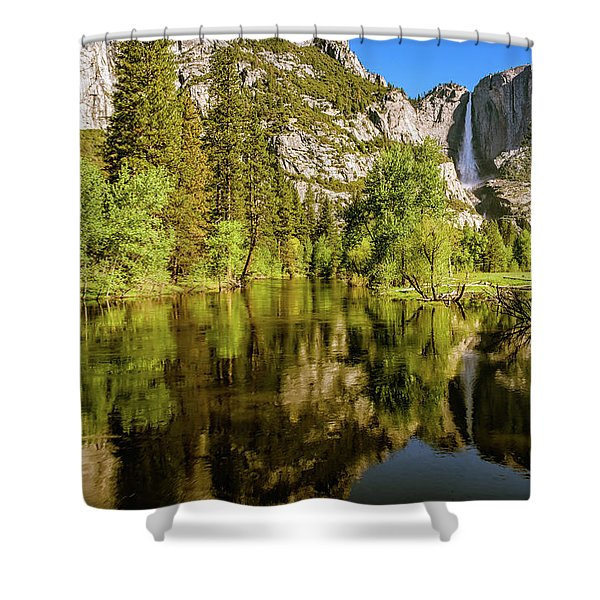 Yosemite Reflections On The Merced River Shower Curtain